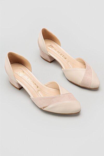Jacquelyn Ten Sivri Burun Alçak Topuk Sandalet