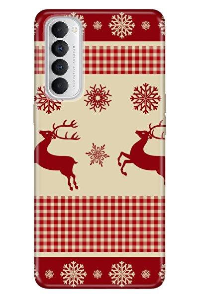 Reno 4 Pro Uyumlu Kılıf Pure Modern Desenli Silikon Deer