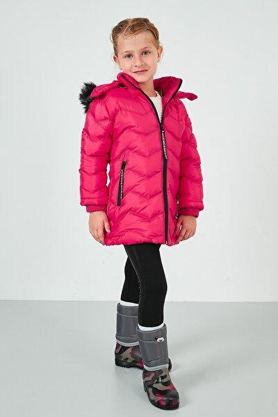 Yakası Suni Kürklü Kapüşonlu Şişme Mont Kız Çocuk MONT 5766041