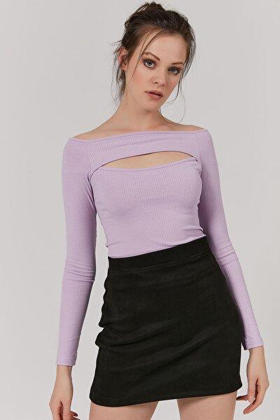 Kadın Göğüs Dekolteli Uzun Kollu Bluz Y20w145-sa072