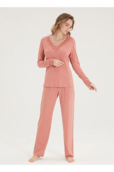 Kadın Pijama Takımı 50353 - Sarı