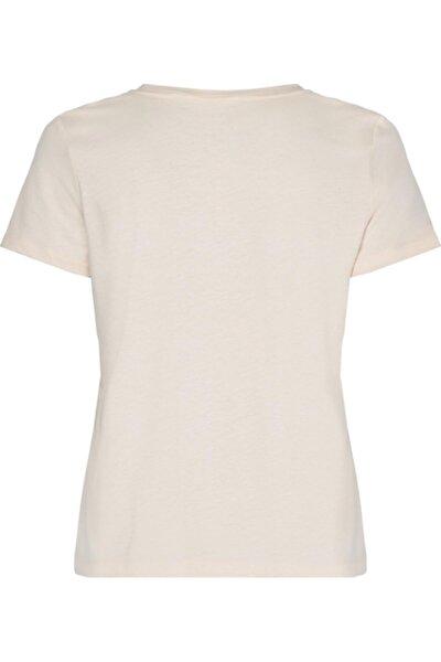 Kadın Ekru Cındy Regular T-Shirt C-nk Top Ss