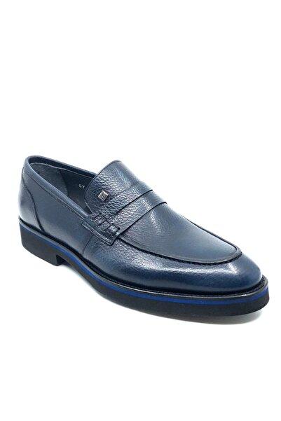 Hakiki Deri Erkek Ayakkabı  Mavi  1114 287
