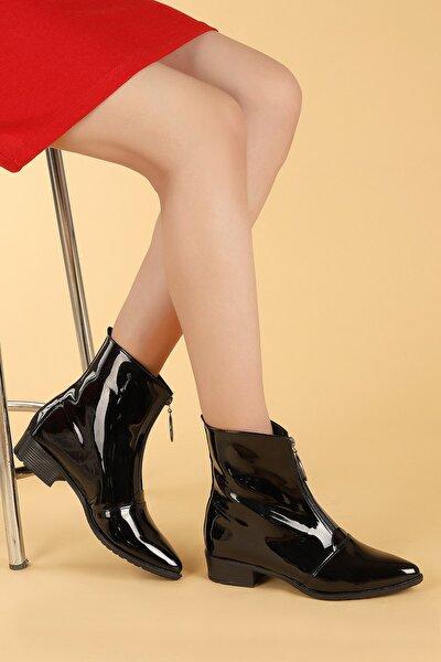 007-02 Rugan Fermuarlı Termo Taban Bayan Bot Ayakkabı