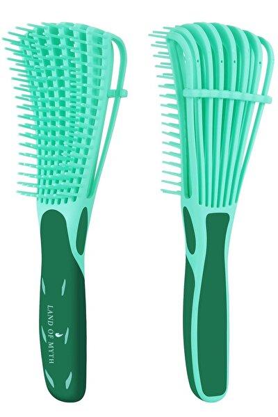Yeni Nesil Dolaşık Saç Açma Tarama Fırçası, Ahtapot Dizayn, Esnek Dişler, Kıvırcık Saç Tarağı -yeşil