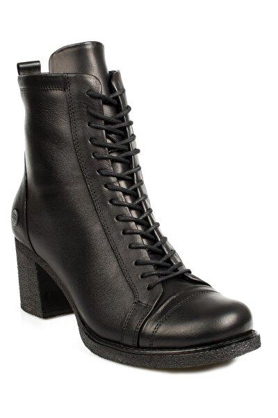 Kadın Siyah Deri Topuklu Bot D20kb-4875