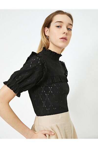 Kadın Siyah T-Shirt 0YAK13124EK