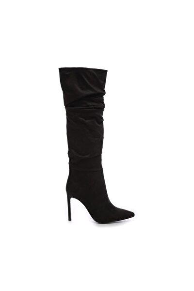 Siyah Kadın Vegan Çizme Çizme 26 54701C BN CZM SK19/20