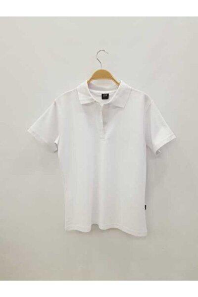 Unisex Beyaz Okul T-shirt