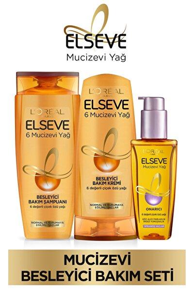 6 Mucizevi Yağ Bakım Şampuan 450ml & Saç Kremi 360 Ml & Yıpranmış Saçlar Için Saç Bakım Yağı