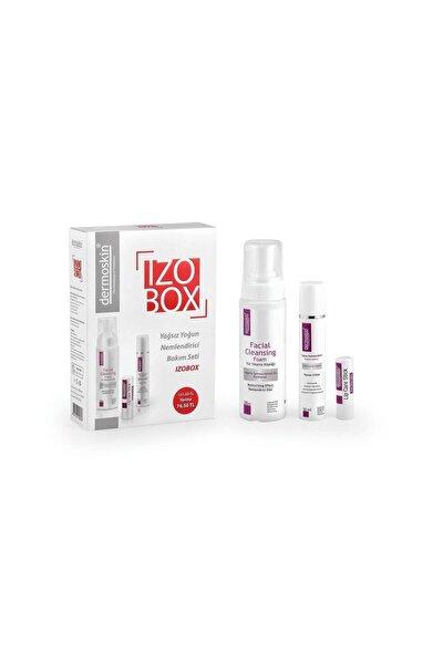 Izobox Bakım Seti Yüz Yıkama Köpük 200ml Nemlendirici Krem 50ml Lip Stick 3,9g