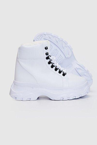 Kadın Beyaz Bot & Bootie 9WU701Z8