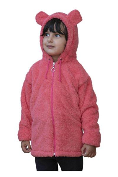Kız Çocuk Pudra Peluş Polar Mont