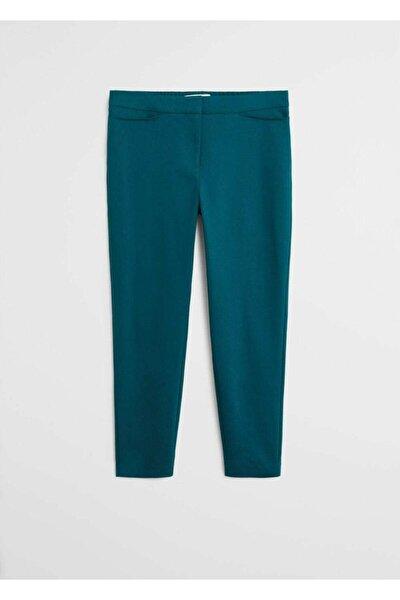 Kadın Koyu Yeşil Dar Kesimli Takım Pantolon  67050109
