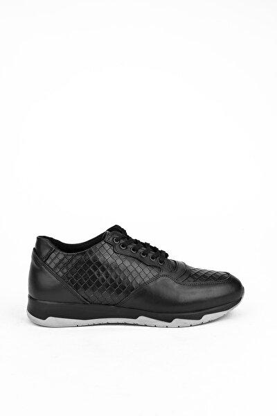 Erkek Siyah Hakiki Deri Casual Ayakkabı