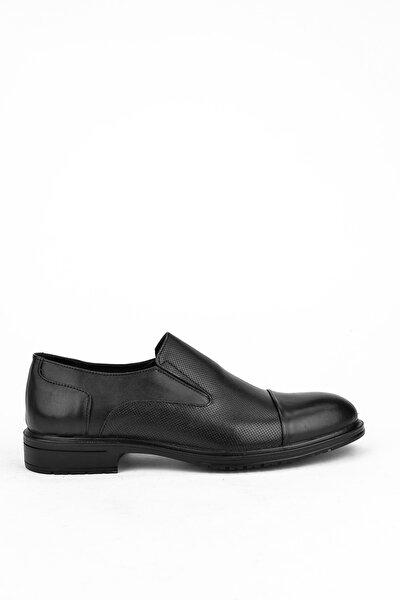 Erkek Siyah Hakiki Deri Ayakkabı 103415 600408