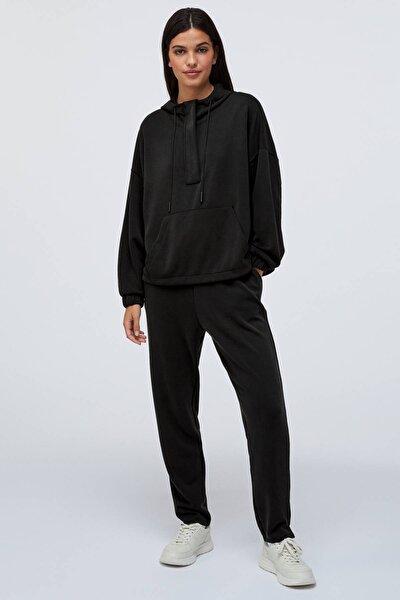 Kadın Siyah Yumuşak Dokulu Pantolon