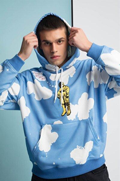 Unisex Mavi Sweatshirt