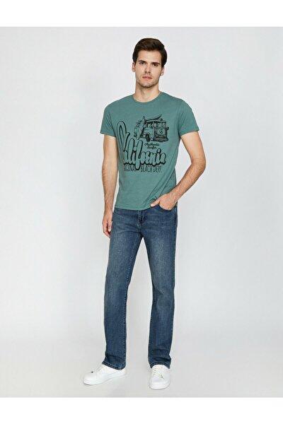 Erkek Mavi T-Shirt 0KAM45013LD