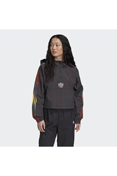 Kız Çocuk Siyah Cropped Halfzip Sweatshirt