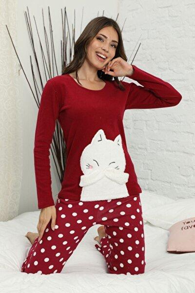 Nakışlı Arkası Detaylı Interlok Pijama Takımı