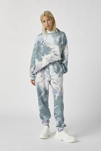 Kadın Renkli Batik Desenli Jogging Fit Pantolon 09678333