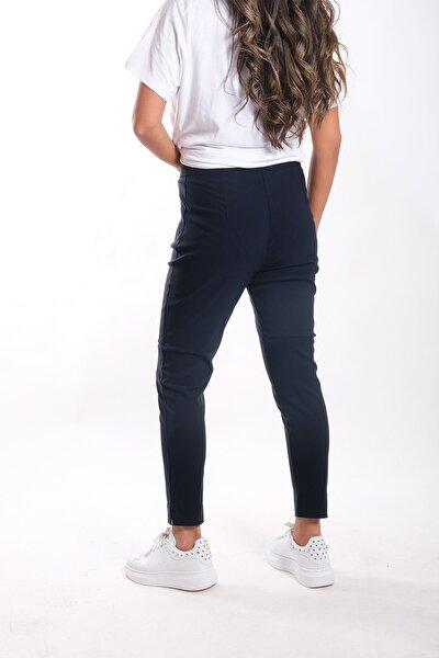 Kadın Lacivert Bengalin Kumaş Pantolon