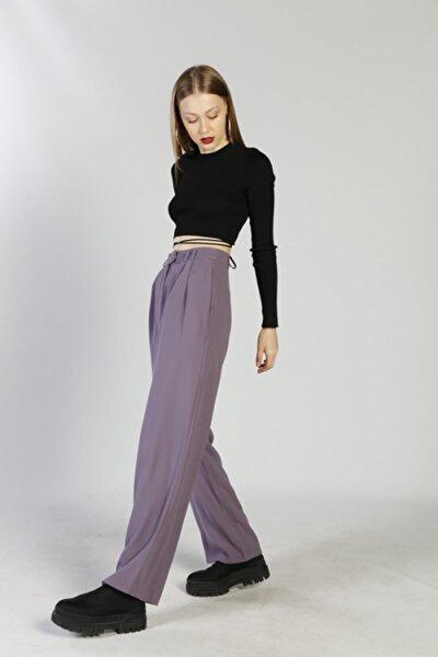 Kadın Mor Palasia Pantolon