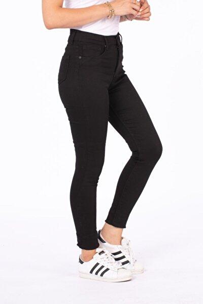 Kadın Siyah Yüksek Bel Pantolon 210