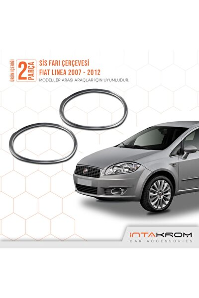 Fiat Linea Krom Sis Farı Çerçevesi 2 Parça 2007 -2012