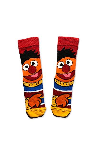 Unisex Renkli Desenli Büdü Çorap