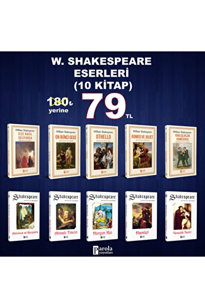 Shakespeare Eserleri Seti (10 Kitap)