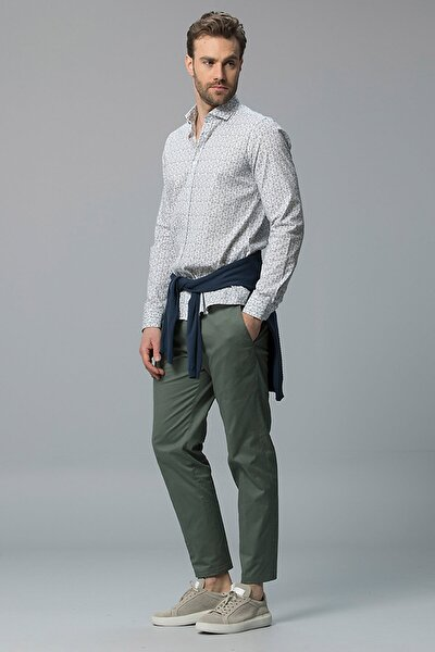 Allen Spor Chino Pantolon Regular Fit Yeşil