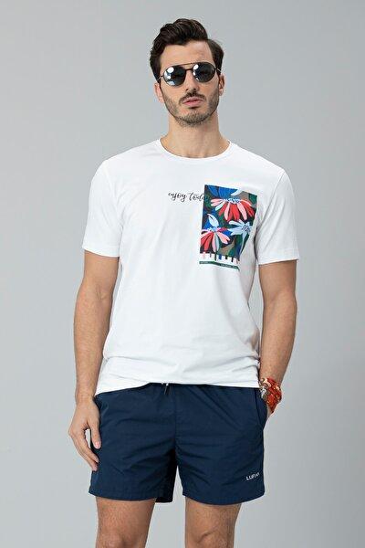 Nefer Modern Grafik T- Shirt Beyaz