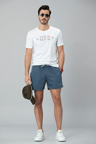 Lukki Modern Grafik T- Shirt Beyaz