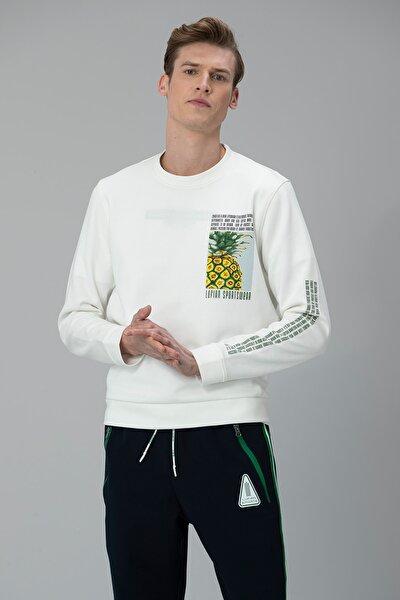 Arkan Sweatshirt Kırık Beyaz