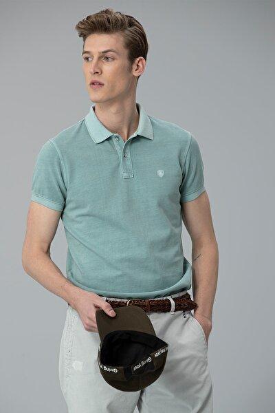 Vernon Spor Polo T- Shirt Orta Mavi