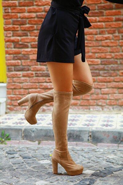 Bej Kadın Çizme