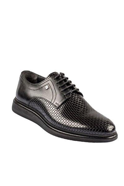 Bağcıklı Siyah Hakiki Deri Erkek Günlük Ayakkabı 9137 324 46