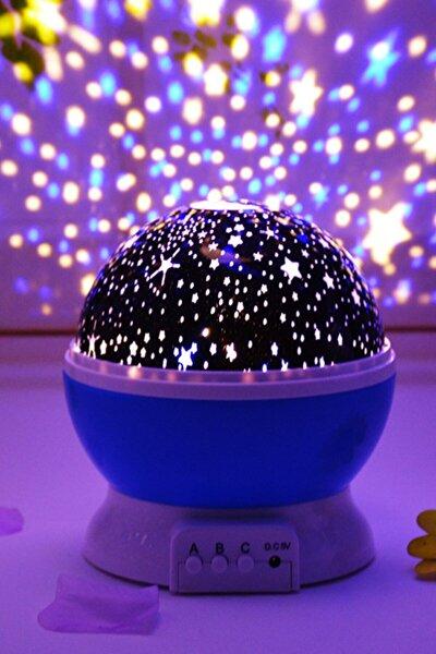 Star Master Renkli Yıldızlı Gökyüzü Projeksiyon Gece Lambası - Mavi