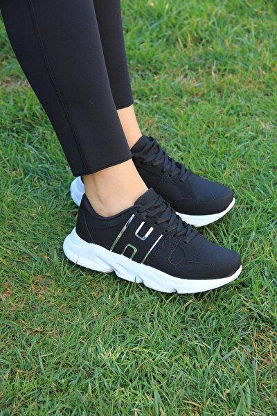 Kadın Siyah Ayna Spor Ayakkabı