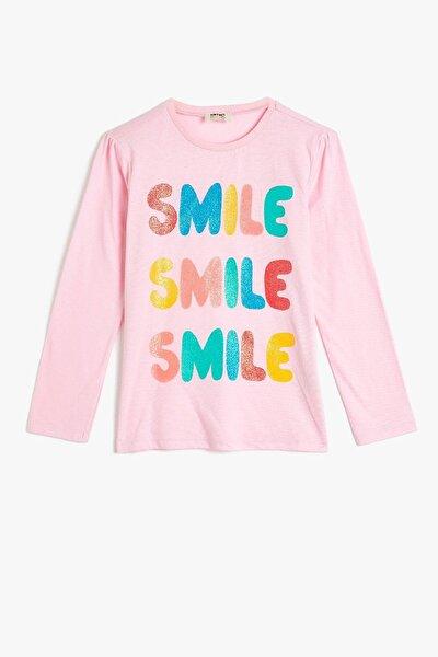 Kız Çocuk Pembe Baskılı T-Shirt