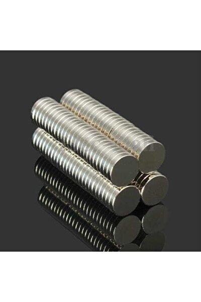 50 Adet 10mm X 2mm Güçlü Yuvarlak Neodyum Mıknatıs (50'li Paket)