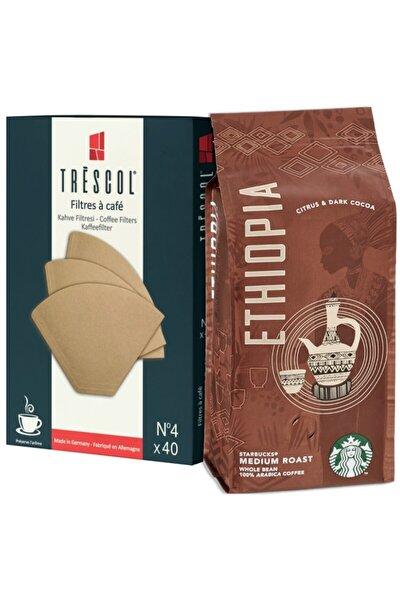 Ethiopia 250gr Öğütülmüş+trescol Kahve Filtre 4no 40'lı
