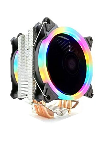 T6 Ultra Soğutma 6 Bakir Kanallı Rainbow Cooler Fan