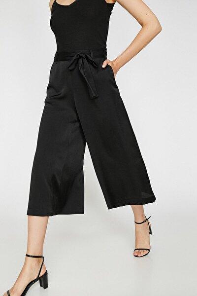 Kadın Siyah Kemer Detaylı Pantolon 0KAK42005UW