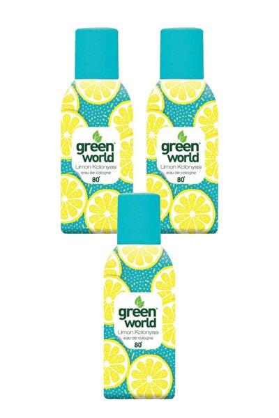 Limon Kolonyası Sprey 80 Derece 150 Ml 3 Adet