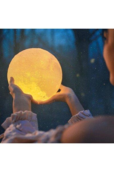 Moon Light - Şarjlı Uzaktan Kumandalı 3d Ay Gece Lambası Orta Boy