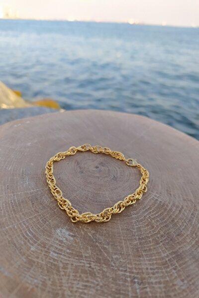 Altın Kaplama Kadın Zincir Bileklik