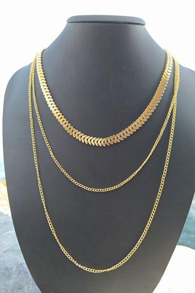 Altın Kaplama Kadın Takım Kolye